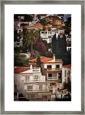 Houses On The Hill Nerja Framed Print by Mary Machare