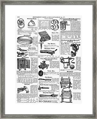 Housewares, 1895 Framed Print