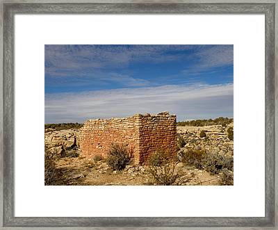 Hovenweep's Twin Towers Framed Print by Feva  Fotos