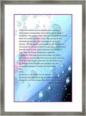 How Big The Universe We Are Framed Print