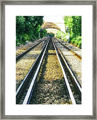 Framed Print featuring the photograph How Come They Never Go Up The Middle by Steve Taylor