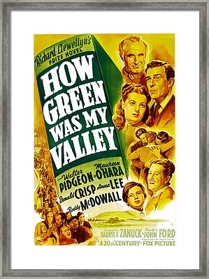 How Green Was My Valley, Donald Crisp Framed Print