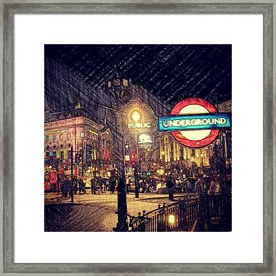 How London Looks Like At Night? May Framed Print