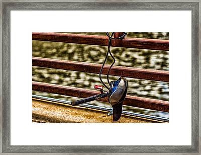 Framed Print featuring the photograph How Not To Lock Your Bike by Tom Gort