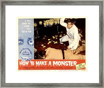 How To Make A Monster, Dennis Cross Framed Print