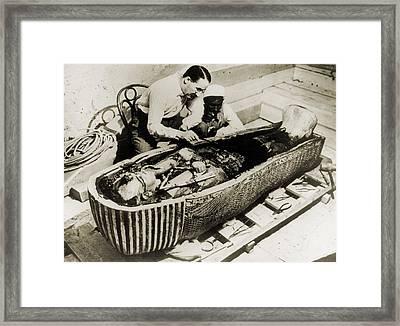 Howard Carter 1873-1939, Seated Framed Print by Everett