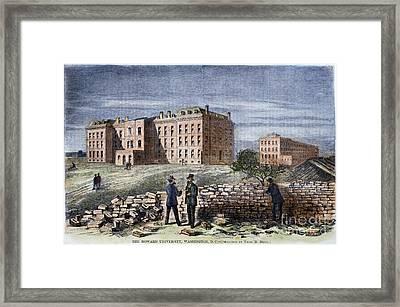 Howard University, 1869 Framed Print by Granger