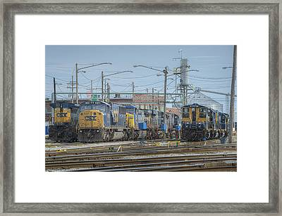 Howell Yards Evansville Indiana Framed Print by Jim Pearson