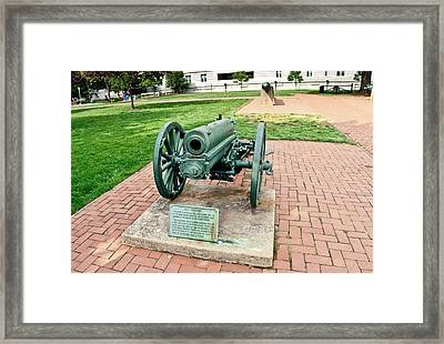Framed Print featuring the photograph Howitzer by Marianne Campolongo