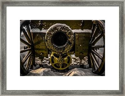 Framed Print featuring the photograph Howitzer by Matti Ollikainen