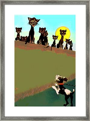 Howling At The Moon Framed Print by Charles Shoup