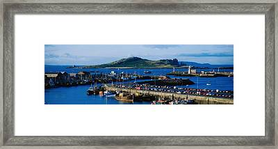 Howth Harbour & Irelands Eye, Co Framed Print by The Irish Image Collection