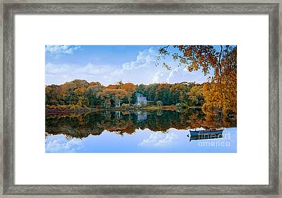 Framed Print featuring the photograph Hoxie Pond by Gina Cormier