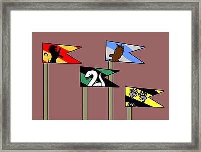 Hp House Flags Framed Print by Jera Sky