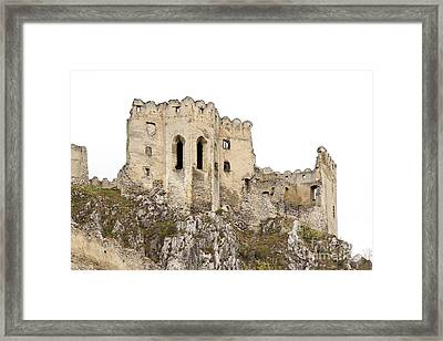 Framed Print featuring the photograph Hrad Beckov Castle by Les Palenik