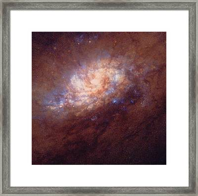 Hst Image Of Star Birth In Galaxy Ngc 1808 Framed Print by Nasaesastscij.flood, Amateur Astronomers Inc.