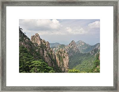 Huangshan Granite 1 Framed Print