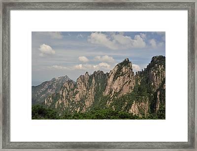 Huangshan Granite 2 Framed Print