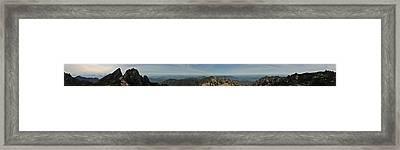 Huangshan Morning Panorama 1 Framed Print