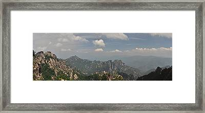 Huangshan Panorama 1 Framed Print