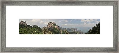 Huangshan Panorama 2 Framed Print