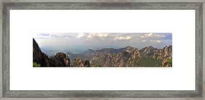 Huangshan Panorama 3 Framed Print