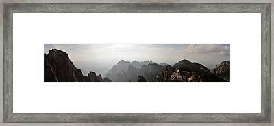 Huangshan Panorama 4 Framed Print