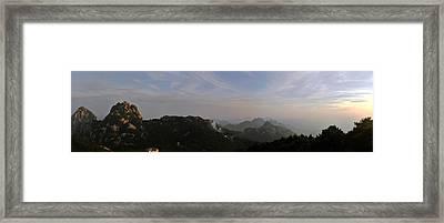 Huangshan Panorama 5 Framed Print