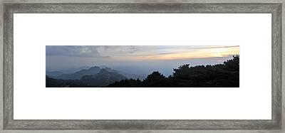 Huangshan Panorama 6 Framed Print