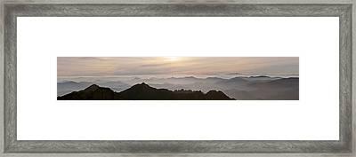 Huangshan Sunrise Panorama 1 Framed Print