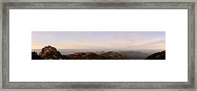 Huangshan Sunrise Panorama 2 Framed Print