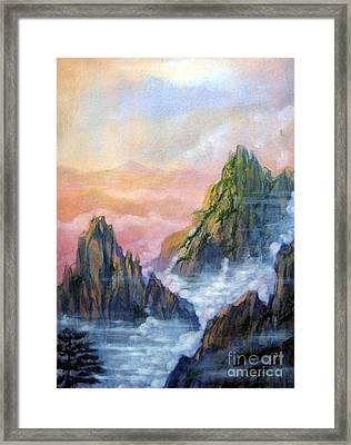 Huangshan Sunrise Framed Print