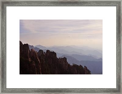 Huangshan Sunset Framed Print