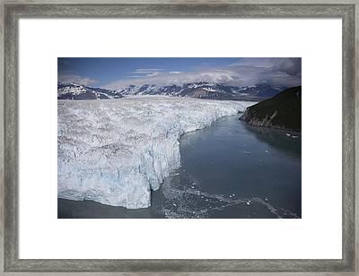 Hubbard Glacier Encroaching On Gilbert Framed Print by Matthias Breiter