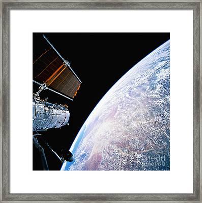 Hubble Space Telescope Framed Print by Stocktrek Images