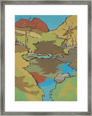 Huckaby Trail Framed Print by Sandy Tracey