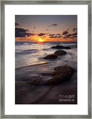 Hug Point Tides Framed Print by Mike  Dawson