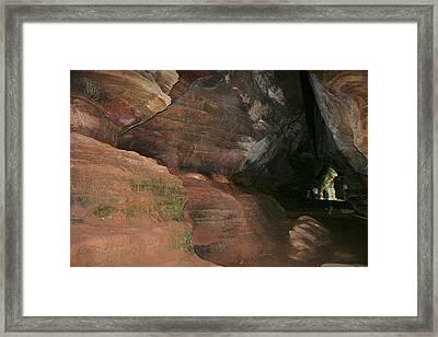 Huge Musky Cave Framed Print by Richard Gregurich