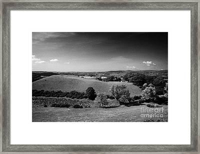 Huge Rath Defensive Earthworks Outside Newtownstewart County Tyrone Northern Ireland  Framed Print by Joe Fox