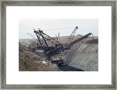 Huge Strip Mining Machinery Consuming Framed Print