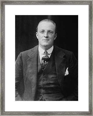 Hugh Walpole 1884-1941, New Zealand Framed Print by Everett