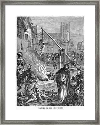 Huguenots: Persecution Framed Print