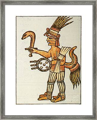 Huitzilopochtli, Aztec God Of War, 16th Framed Print by Photo Researchers