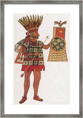 Huitzilopochtli, Aztec God Of War Framed Print by Photo Researchers