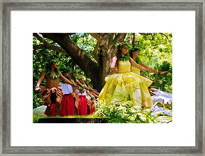 Hula Support From Behind Framed Print by Craig Wood