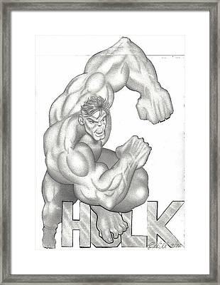 Hulk Framed Print by Rick Hill