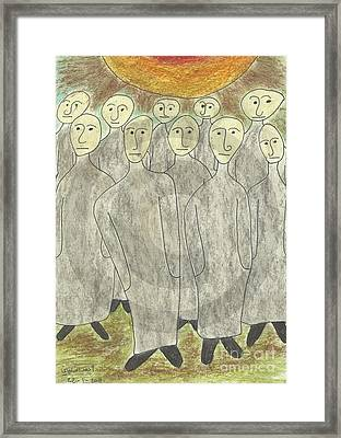 Human Body Day Of Judgment Framed Print by Ahmed  Elzalabany
