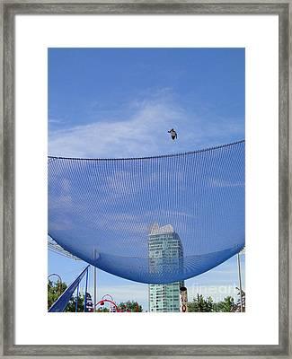 Human Cannonball Framed Print by Al Bourassa