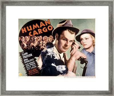 Human Cargo, Brian Donlevy, Claire Framed Print by Everett