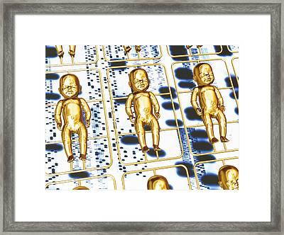 Human Cloning Framed Print by Pasieka